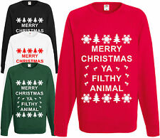 MERRY CHRISTMAS YA Filthy Animal Pull Nouveauté amusant tricot noël Pull-Over