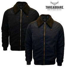 Herrenjacke Threadbare Sherpa-fleece Kragen Mit Reißverschluss Winterjacke