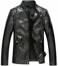 Leather Jacket Men's LATEST Fashion Biker Slim Fit Motorcycle Jacket Blazer
