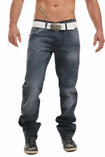 Cipo & Baxx Denim Herren Dark Blue Jeans Hose Straight Cut Style C-1041