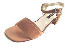 PETER KAISER*- Woman Size 6 & 6.5  BROWN Suede Leather Open Toe  Slingback Shoes