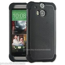 Black PREMIUM STYLE GRIP Protective HARD BACK CASE COVER FOR HTC One M8