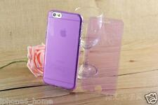 Transparent Purple Soft Silicone Gel Flip Case Cover For iPhone 6/6s Plus 5.5""