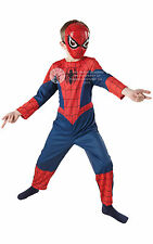 #CHILD CLASSIC SPIDERMAN MARVEL SUPERHERO FANCY DRESS COMPLETE OUTFIT 3 SIZES