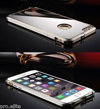 Luxury Mirror Aluminum Metal Bumper Case cover for Apple iPhone 6S Plus (Silver)