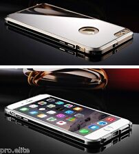 Luxury Mirror Aluminum Metal Bumper Case cover for Apple iPhone 6S Plus (Black)