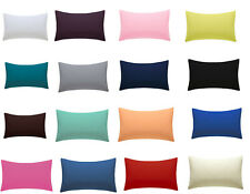 AmigoZone Plain Pollycotton Percale Housewife Pair of Pillow Cases 19 Colors