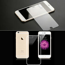 Apple iPhone5/5s/6/6s Soft Transparent Tpu Case Cover Tempered Glass Camera Ring