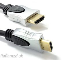PRO Ultra HD HDMI Cable High Speed + Ethernet v1.4 4K 3D ARC GOLD Metal Hoods