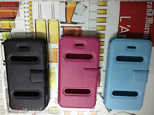 Leather Finish Quality Flip Case Cover For Apple iPhone 4 4G 4S