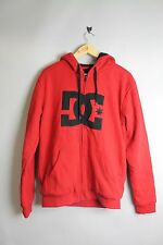 DC D053860092 JAMMER PREMIUM FLEECE DRDD RED ZIP UP HOODIE HOOD WITH CHEST LOGO