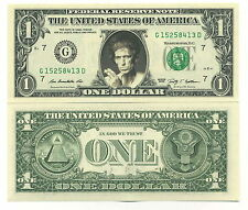 KEITH RICHARDS - VRAI BILLET de 1 DOLLAR US ! Collection The ROLLING STONES