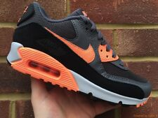 Nike Womens Air Max 90 Essential Dark Grey/Sunset Glow/Black NEW! Sizes UK 3 4 5