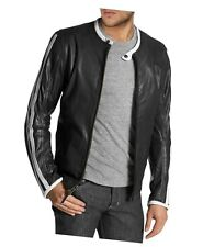 Stylish Genuine Leather Black Biker Custom Designer Motorcycle Jacket