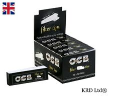 Genuine OCB PERFORATED Filter Tips Cigarette 50 Filters 25 x Booklets FULL BOX