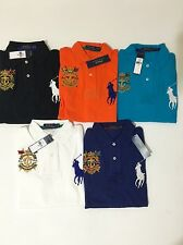 NWT Polo Ralph Lauren Mens Short Sleeve Custom Fit Big Pony Crest Polo