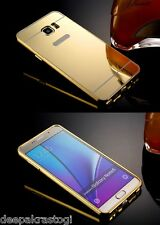 Luxury Aluminium Bumper With Mirror Acrylic Back Cover For Samsung Galaxy Note 5