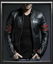 PU(false) Leather Black Biker Custom Designer Motorcycle Jacket