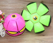 Flat Phlat Ball Frisbee WITH LIGHT Transforms From A Disc Disk To A Balll toy