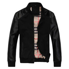 Biker Leather Jacket Custom Designer Motorcycle for Men in Black & Coffee Color