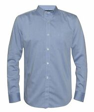 French Connection Mens Chambray Snorkel Blue Shirt
