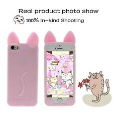 Fashion Cartoon Cat Ear Soft Silicone Gel Case Cover Skin For Apple iPhone 5/5S