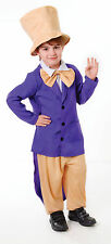 CHILD FAIRY TALE CHOCOLATE FACTORY BOSS OUTFIT WILLY WONKA FANCY DRESS