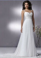 Chiffon Wedding Bridal dress Gown Beaded straps bridesmaid Dresses Stock 6-16
