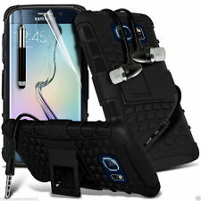 Shockproof Dual Layer Heavy Duty Case Cover+In Ear Stereo Headset for Samsung