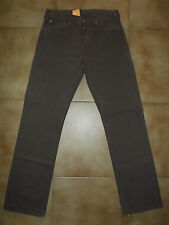 jeans levis 501 00 35 red tab button fly taglia w 30 31  Marrone