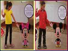 Disney Mickey & Minnie Mouse Airwalker Buddy Palloncino Rivestito anagramma