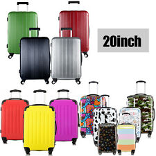 """Cabin Hard Shell 4 Wheel Spinner Luggage Suitcase 20"""" Trolley Carry On Case"""