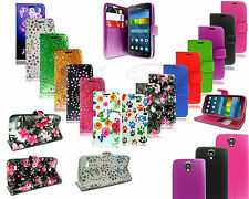 For Huawei Ascend Y5 Y560 New Leather Flip Book Wallet Phone Case + Screen Guard