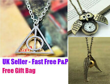 Harry Potter Necklace Deathly Hallows, Always, Snitch, Platform 9 3/4, Charm