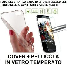 PELLICOLA VETRO TEMPRATO per APPLE IPHONE 6 PLUS +1 COVER SLIM TRASPARE