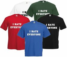 I Odio Everyone T-shirt Unisex Maglietta Commedia Offensiva Top Hipster Cool