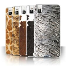 STUFF4 Phone Case/Cover for Huawei Honor 7i/ShotX /Animal Fur Effect/Pattern
