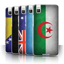 STUFF4 Phone Case/Back Cover for Huawei Honor 7i/ShotX /Flags