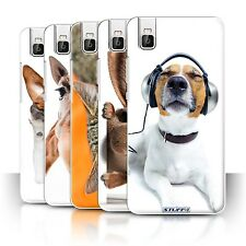 STUFF4 Phone Case/Back Cover for Huawei Honor 7i/ShotX /Funny Animals