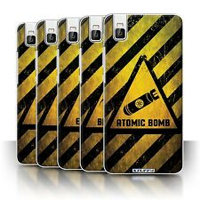 STUFF4 Phone Case/Back Cover for Huawei Honor 7i/ShotX /Hazard Warning Signs