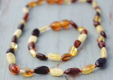 Set for baby of Baltic Amber necklace and bracelet