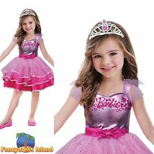 BARBIE BALLERINA BALLET PRINCESS COSTUME LICENSED age 3-10 girls fancy dress