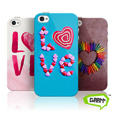 Love Hearts Protective Hard Shell Snap on iPhone 4 Case / Cover