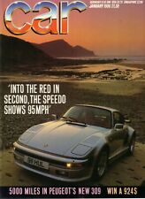 Car January 1986 - Ford Sierra Cosworth 911 Turbo RX-7 Renault Peugeot Lancia
