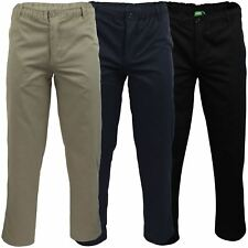 Mens Full Elastic Waist Rugby Trouser by D555 'Basilio' with Draw Cord