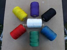 5 Meters 2mm Braided Nylon Cord in Black,Green,Yellow,Red,Purple,Blue and White
