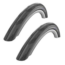 "PAIR 26"" x 1.95 SCHWALBE CITY JET BLACK Slick Mountain Bike City Road Tyres"