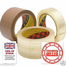 3M™ Scotch® | Box Sealing Parcel Packing 371 Tape | 25-48mm x 66m | Clear/Brown