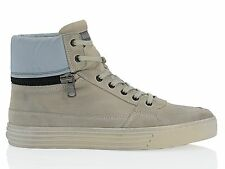 IU1639 HOGAN sneakers in camoscio grigio UOMO MEN'S grey leather sneakers