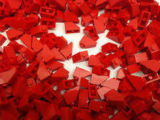LEGO 3040 - RED Slope Roof Tile 1X2 / 45 D. Angle - 25 Pieces Or 50 Pieces